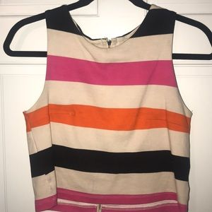 H&M stripe color block sleeveless crop top